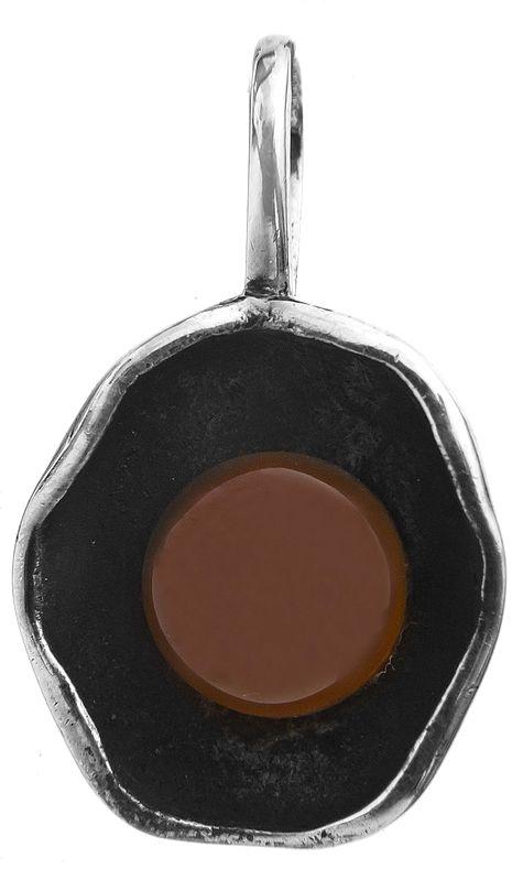 Carnelian in Oyster Pendant