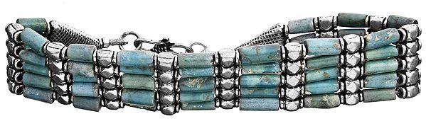 Five-Strand Turquoise Bracelet