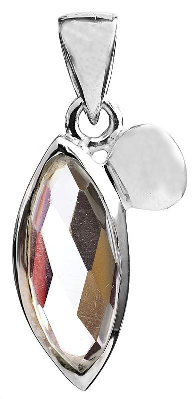 Faceted Crystal Marquis Pendant