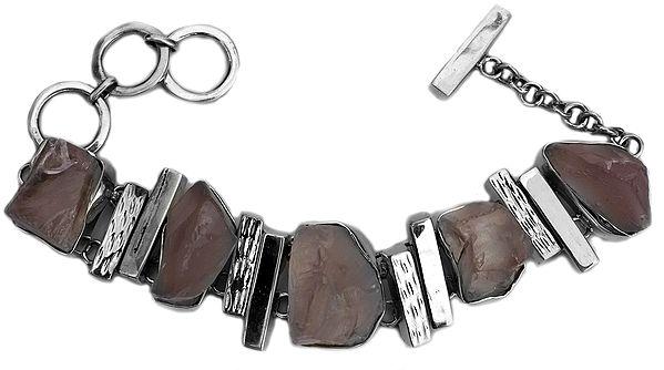 Rugged Rose Quartz Bracelet