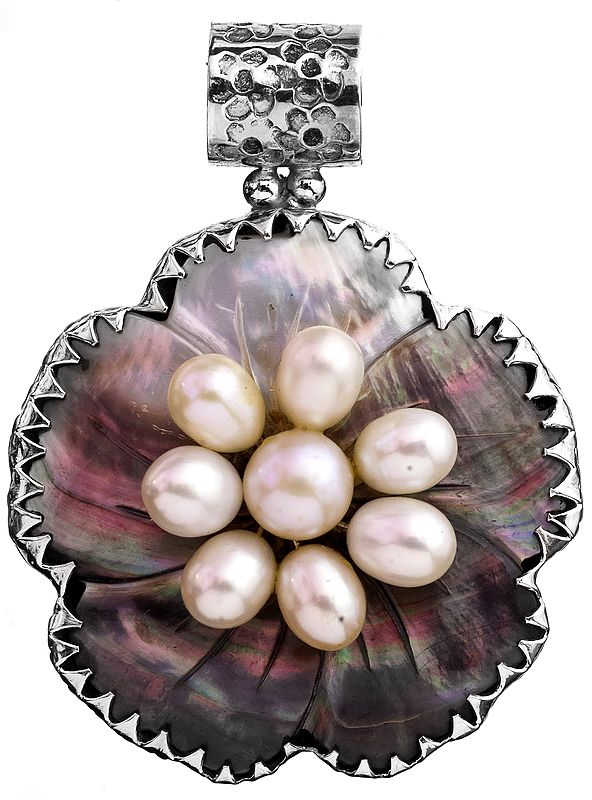 Abalone Pendant with Pearl