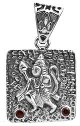 Lord Hanuman Pendant with Faceted Gems (Citrine, Peridot, Garnet, Iolite)