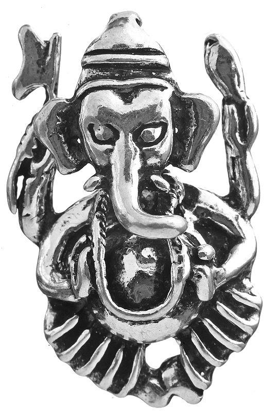 Sterling Ganesha Pendant