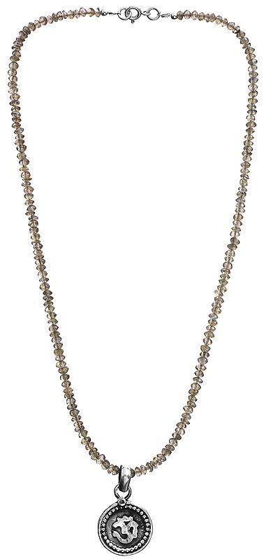 Labradorite Om (AUM) Necklace