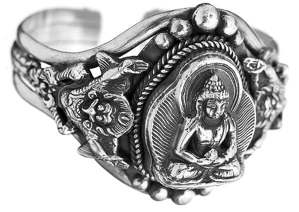 Lord Buddha Cuff Bracelet
