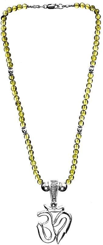 OM (AUM) Peridot Necklace