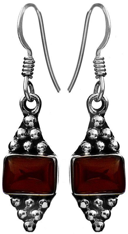 Sterling Earrings with Gems