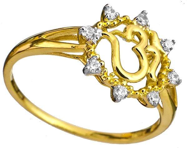 OM (AUM) CZ Ring