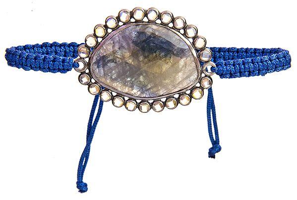 Faceted Iolite Cord Bracelet