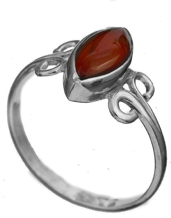 Carnelian Marquis Ring
