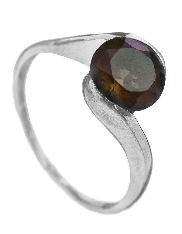 Faceted Smoky Quartz Ring