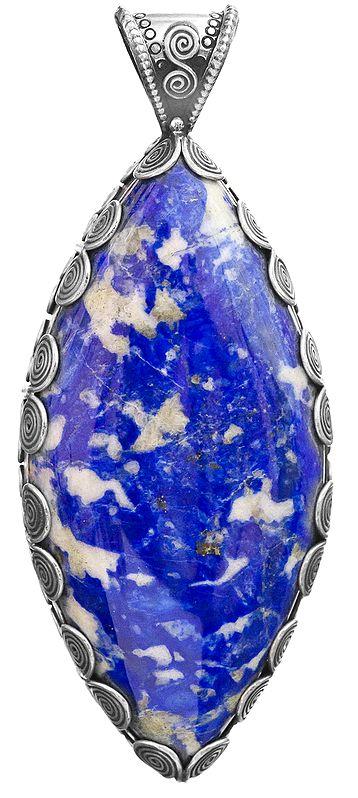 Lapis Lazuli Large Pendant with Spiral