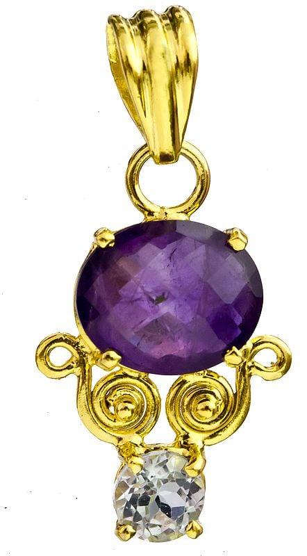 Gemstone Gold Plated Pendant