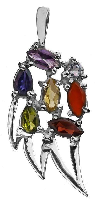 Faceted Gemstone Designer Pendant (Amethyst, Iolite, Peridot, Garnet, Citrine, BT and Carnelian)