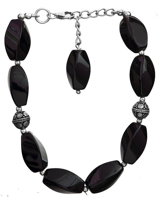 Twisted Black Onyx Bracelet