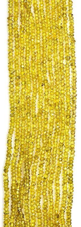 Israel Cut Yellow Sapphire Rondells