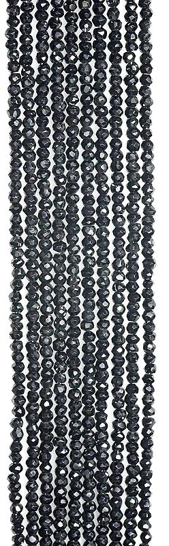 Black Spinel Israel Cut Rondells