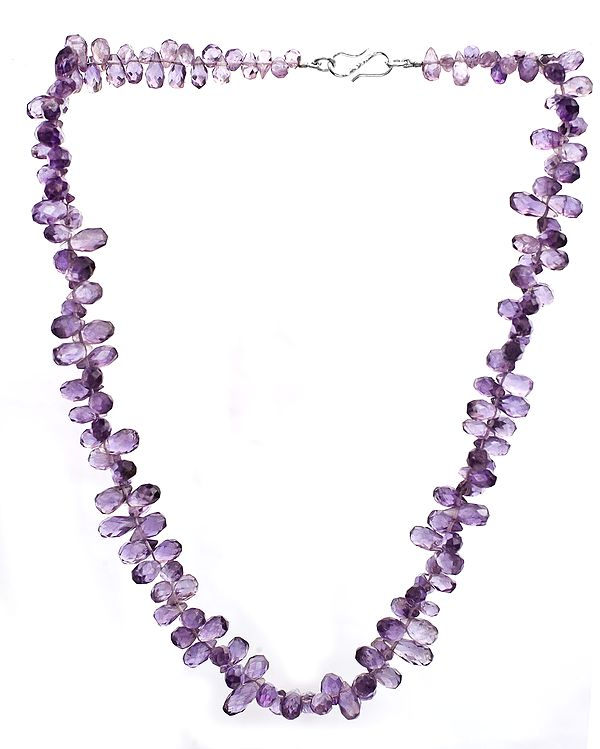 Faceted Amethyst Beaded Necklace