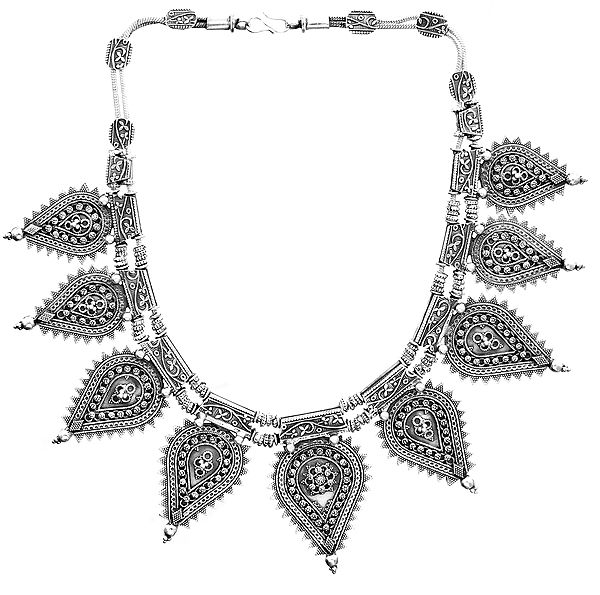 Handcrafted Leaves Necklace (South Indian Temple Jewelry)