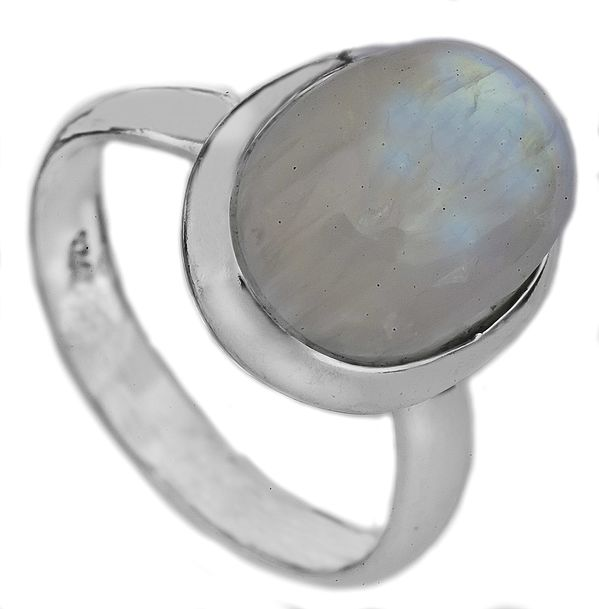 Rainbow Moonstone Oval Ring