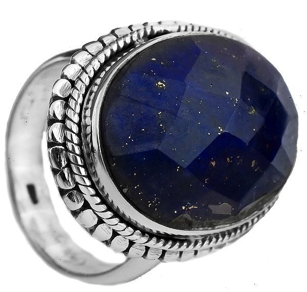 Faceted Lapis Lazuli Oval Ring