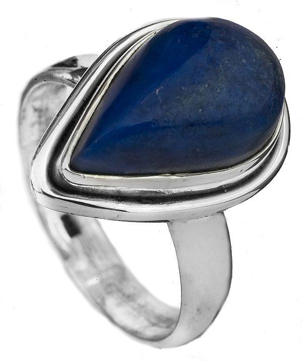 Lapis Lazuli Tear Drop Ring
