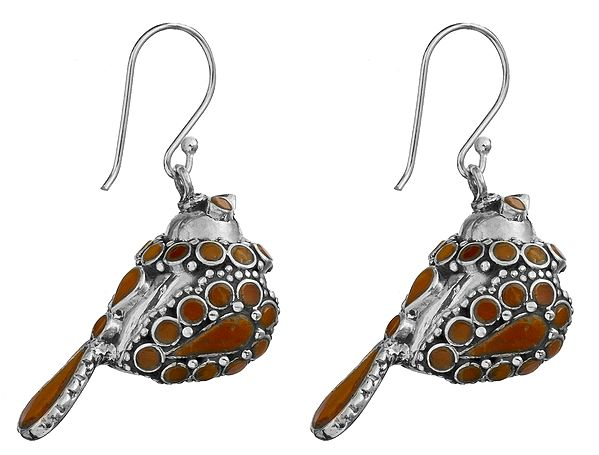 Sparrow With Turquoise Plumage Drop Earrings