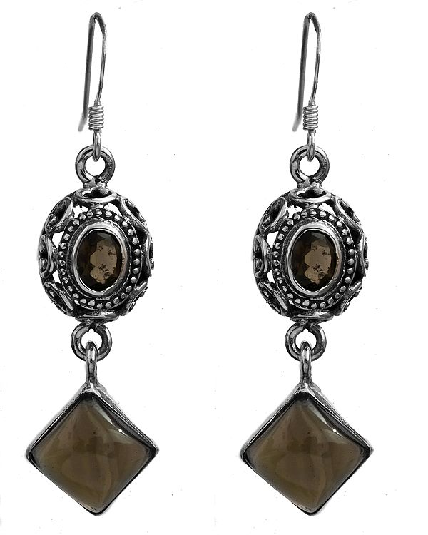 Faceted Smoky Quartz Earrings