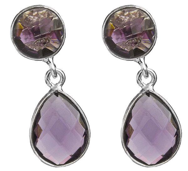 Twin Faceted Gemstone Earrings