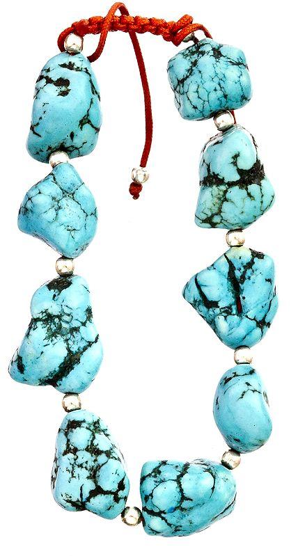 Chunky Turquoise Nugget Bracelet