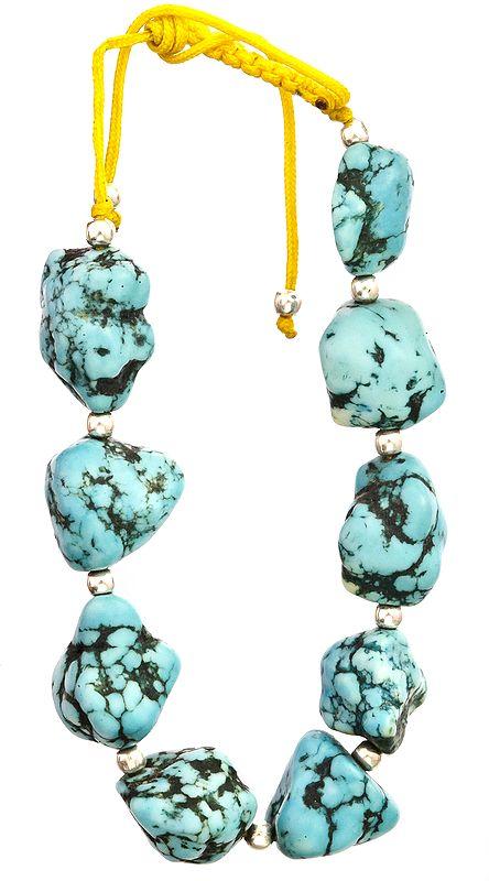Turquoise Cord Bracelet