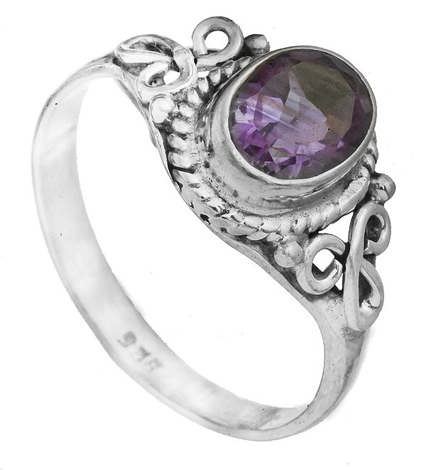 Faceted Gemstone Ring