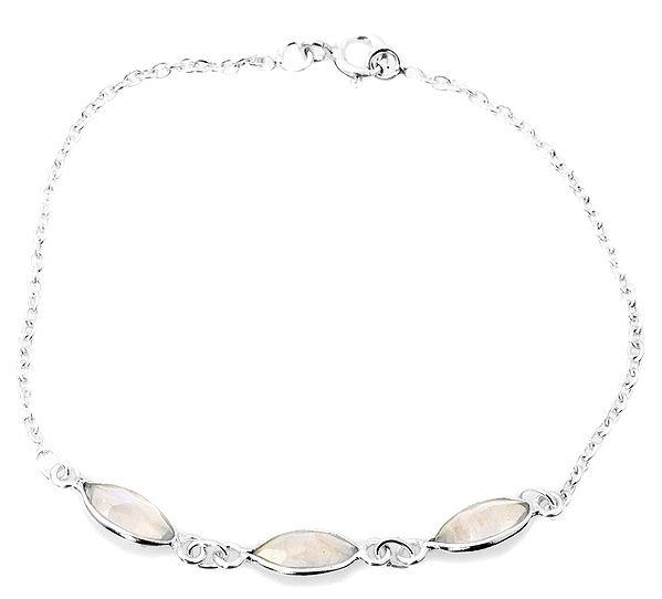 Faceted Rainbow Moonstone Bracelet