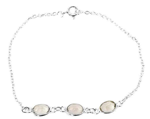 Faceted Green Amethyst Bracelet
