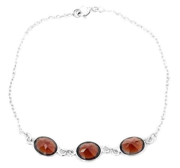Faceted Garnet Bracelet