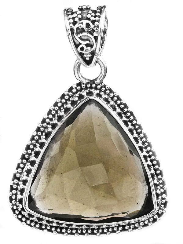 Faceted Triangle Gemstone Pendant