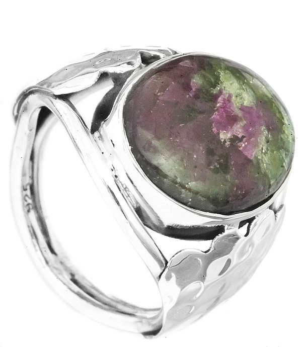 Ruby Zoisite Oval Ring