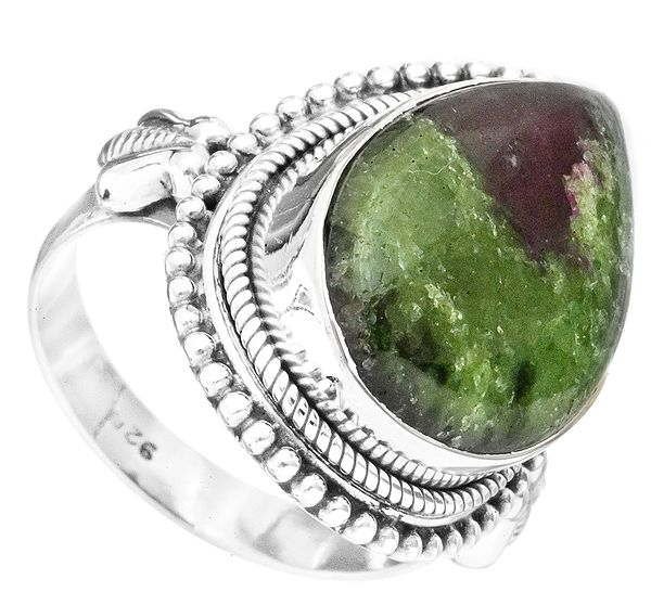 Ruby Zoisite Drop Ring