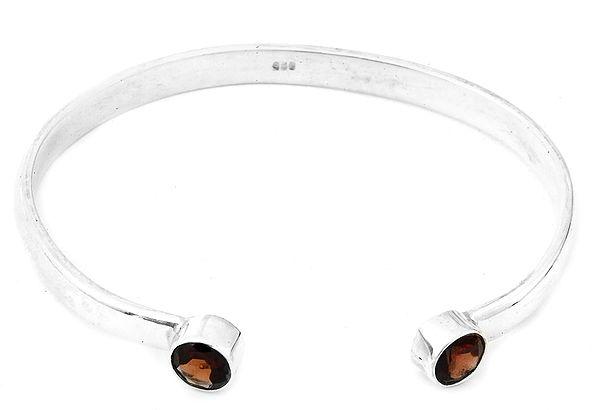 Faceted Garnet Cuff Bracelet