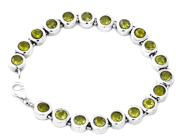 Faceted Gemstone Bracelet