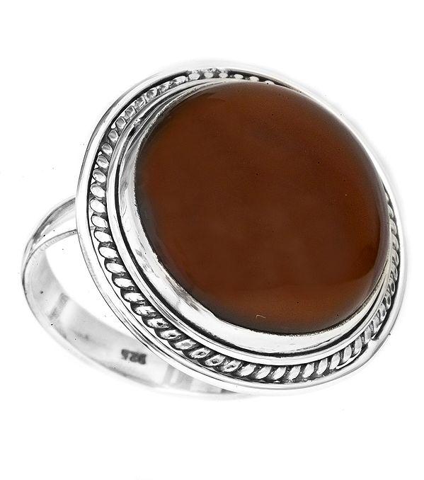 Circular Carnelian Ring