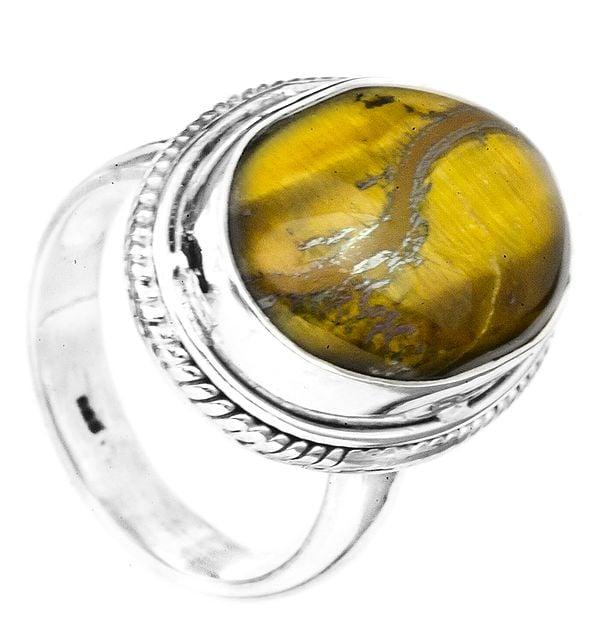 Tiger Eye Oval Ring