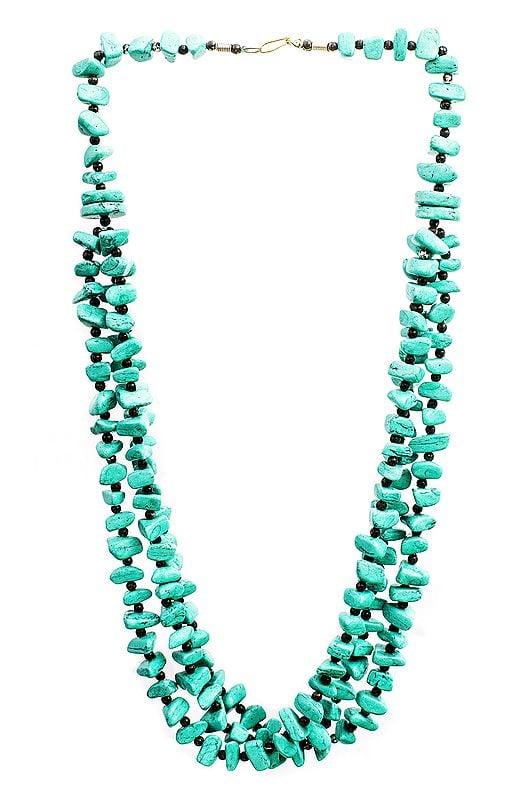 Three-Strand Beaded Necklace