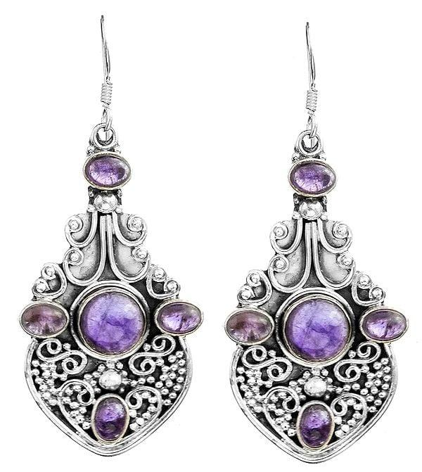 Granulated Gemstone Earrings