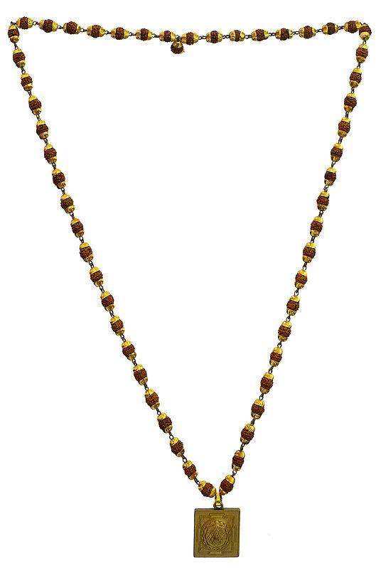 Rudraksha Mala with Shri Yantra Pendant