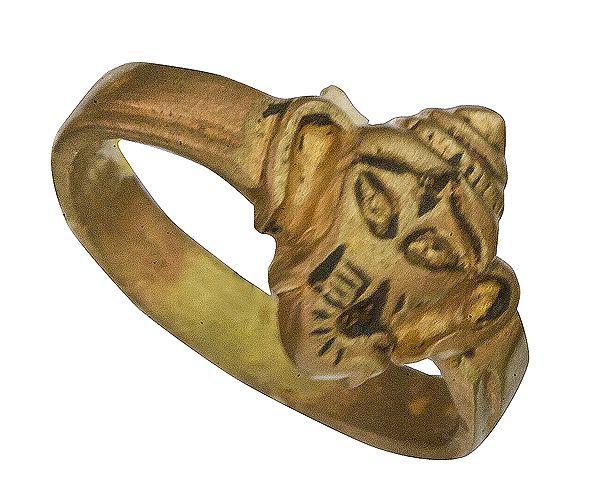 Ganesha Head Ring