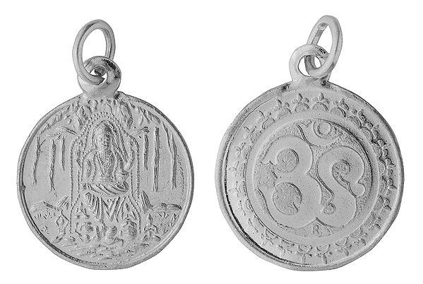 Lord Dakshinamurti Shiva Pendant with OM on Reverse (Two Sided Pendant)