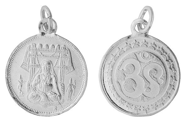 Raghavendrar Pendant With OM on the (Two Sided Pendant)