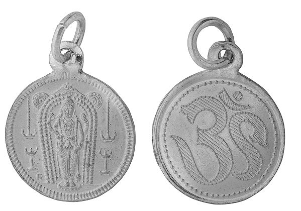 Lord Vishnu Pendant with OM on Reverse (Two Sided Pendant)