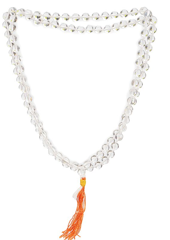 Crystal Mala (Rosary) of 108 Beads for Chanting